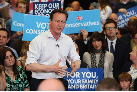 British Jews are hoping incumbent PM David Cameron wins reelection