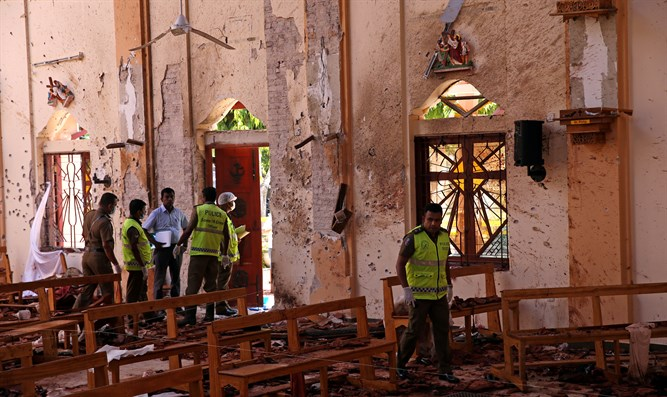 St. Sebastian Catholic Church in Negombo after bombing attack