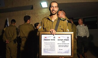 Certificate for soldier who neutralized terrorist with one shot